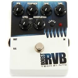PEDAL TECH 21 BOOST R.V.B.ANALOG REVERB W/TRAILS
