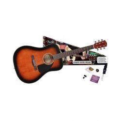 GUITARRA ACUSTICA CD60 NEGRA PACK FUNDA+AFINA+CORRE
