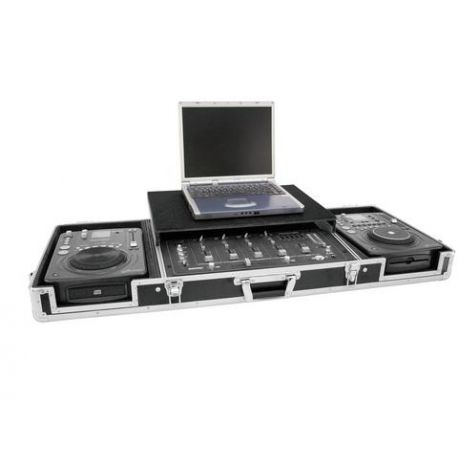 FLIGHTCASE ROADINGER 1140 X 470 X 195 EXTER. 2 CD+MIXER