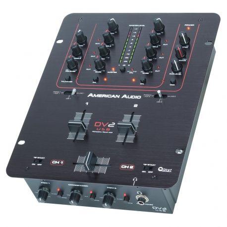 MEZCLADOR AMER.DJ 2 LINE 2 PHONO 2 AUX 1 MIC USB