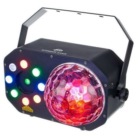 EFECTO ILUMIN AMER DJ MOONFLOWER STROBO LED RGBWAV