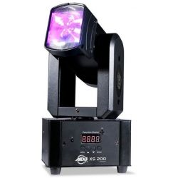 ADJ XS200 CABEZA MOVIL LED 2 X 10W RGBW DMX 360 grados
