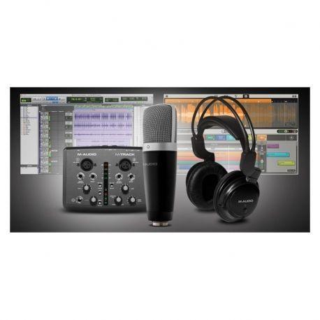 M-audio vocal studio pro pack de micrófono condensador, auriculares e interfaz