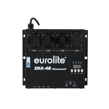DIMMER EUROLITE 4 CANALES 1150 W/CANAL 4CH DMX 4 OUT SCHUKO