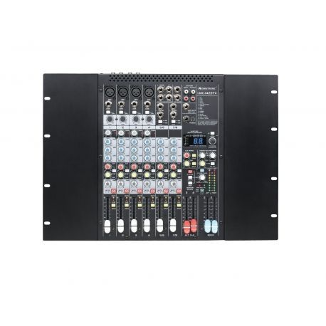 MESA MEZCLAS OMNITRONIC 4MIC+2 STEREOS EFECTO ,1 AUX , USB PC