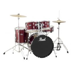 BATERIA PEARL ROADSHOW 5PC C91 RED WINE INCL HIT HAT CRASH16