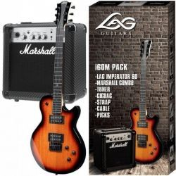 PACK GUITARRA ELECTRICA LAG I60 +AMPL MG10CF