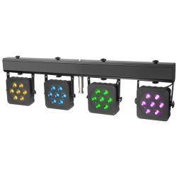 CAMEO CLMPAR2 SET FOCOS LED 4 7X3 WATIOS RGB