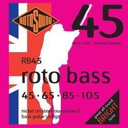 ROTOSOUND RB45 JUEGO CUERDAS BAJO 4CUERDAS 45-105 NICKEL