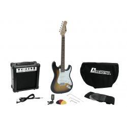 DIMAVERY EGS-1 GUITARRA ELECTRICA SET AMPLI+FUNDA+AFIN+CORREA