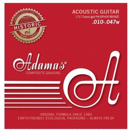 ADAMAS 1717 JUEGO CUERDAS GUITARRA ACUSTICA Extra Light .010-.047