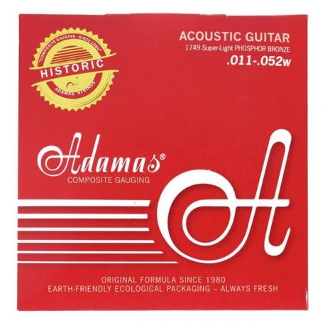 ADAMAS 1749 JUEGO CUERDAS GUITARRA ACUSTICAS Super-Light .011-.052