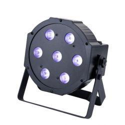 EUROLITE SLS-7QCL PARCAN LED 7 X10W RGBW DMX SOUND ACTIVE