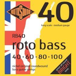 ROTOSOUND RB40 JUEGO DE CUERDAS BAJO 4 CUERDAS 040