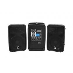 OMNITRONIC COMBO-160BT SET ALTAVOVES 160W +MESA 6 CH MP3