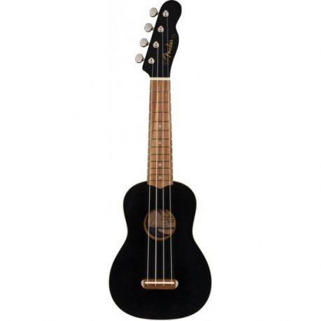 FENDER 097-1610-706 Ukulele Fender Venice Ukulele Soprano BLK