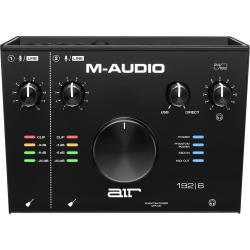 M AUDIO AIR192X6 INTERFACE 2 IN 2 OUT 24 BITS 192 KHZ SLIDA AURICULAR