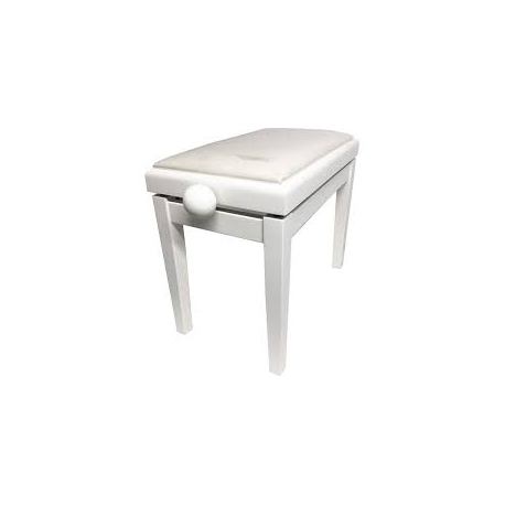 E KELLER PB007 BANQUETA REGULABLE PARA PIANO BLANCO MATE RECTANGULAR