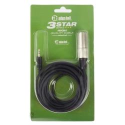 adam hall K3BWM0300 cable mini jack stereo a xlr macho 3 metros