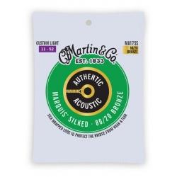 MARTIN CMAMA175S JUEGO CUERDAS GUITARRA SILKED BRONZE 80/20 CUSTOM LIGHT 11