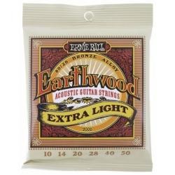 ERNIEBALL EB2006 JUEGO CUERDAS EARTHWOOD BZ. EXTRA LIGHT 10-50