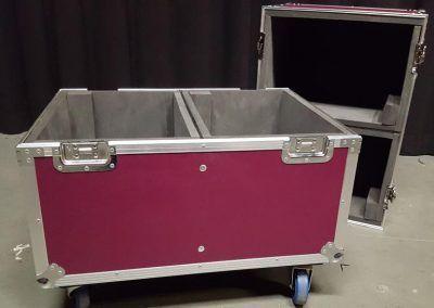 flycase con dos compartimentos