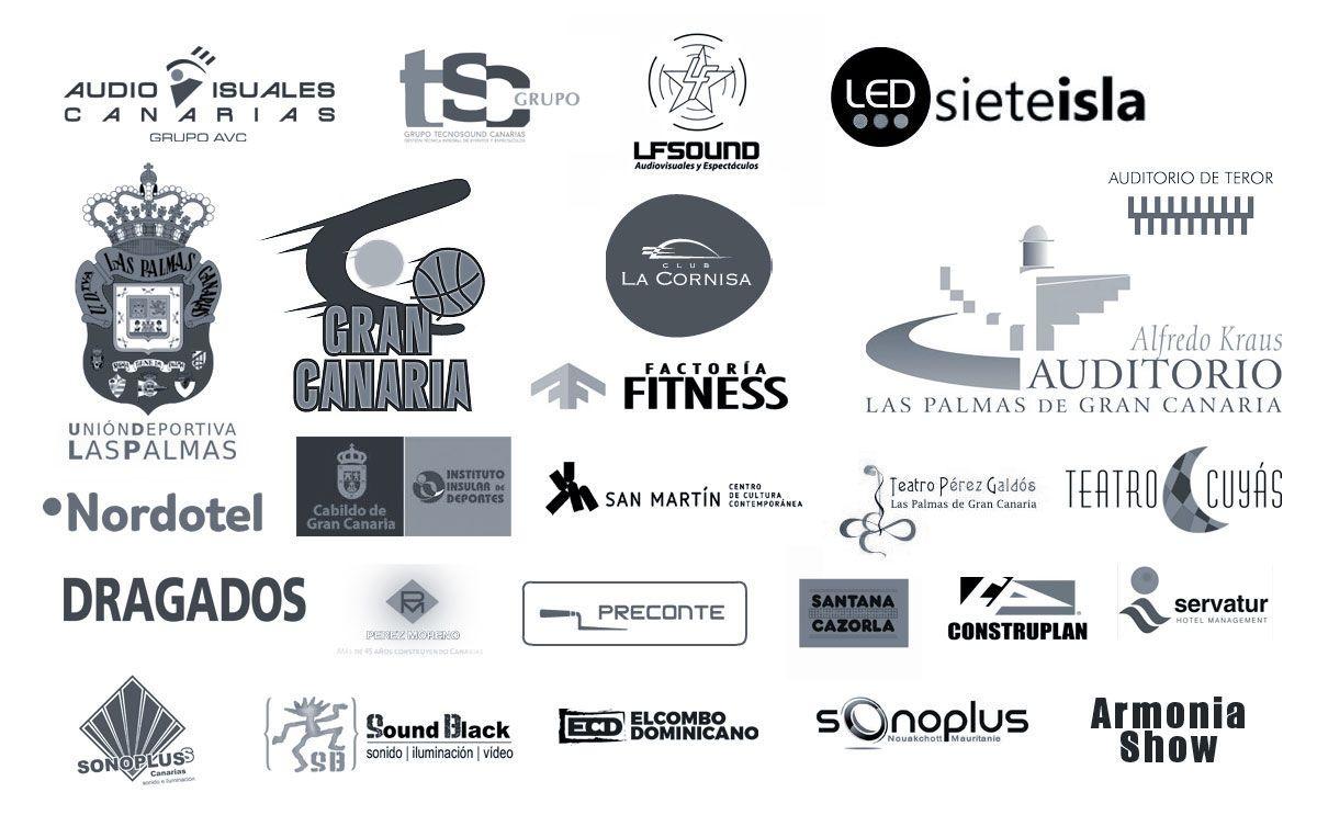 Logotipos de clientes de Hipermusic